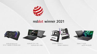 GIGABYTE gana en grande en los premios de diseño Red Dot 2021; Todas las nominaciones de GIGABYTE ganan en su categoría