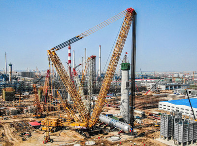 Crane Capacity Record Breaker: XCMG Crawler Crane XGC88000 Completes Installation of 2600-ton Hydrogenation Reactor in China 10 Days Ahead of Schedule
