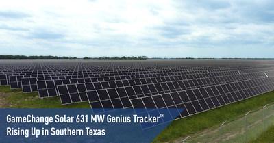 Genius Tracker™ de 631 MW de GameChange Solar se levanta en el sur de Texas (PRNewsfoto/GameChange Solar)
