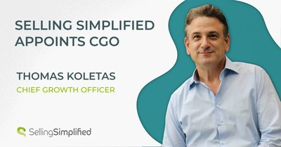 Selling Simplified announces Thomas Koletas as Chief Growth Officer.